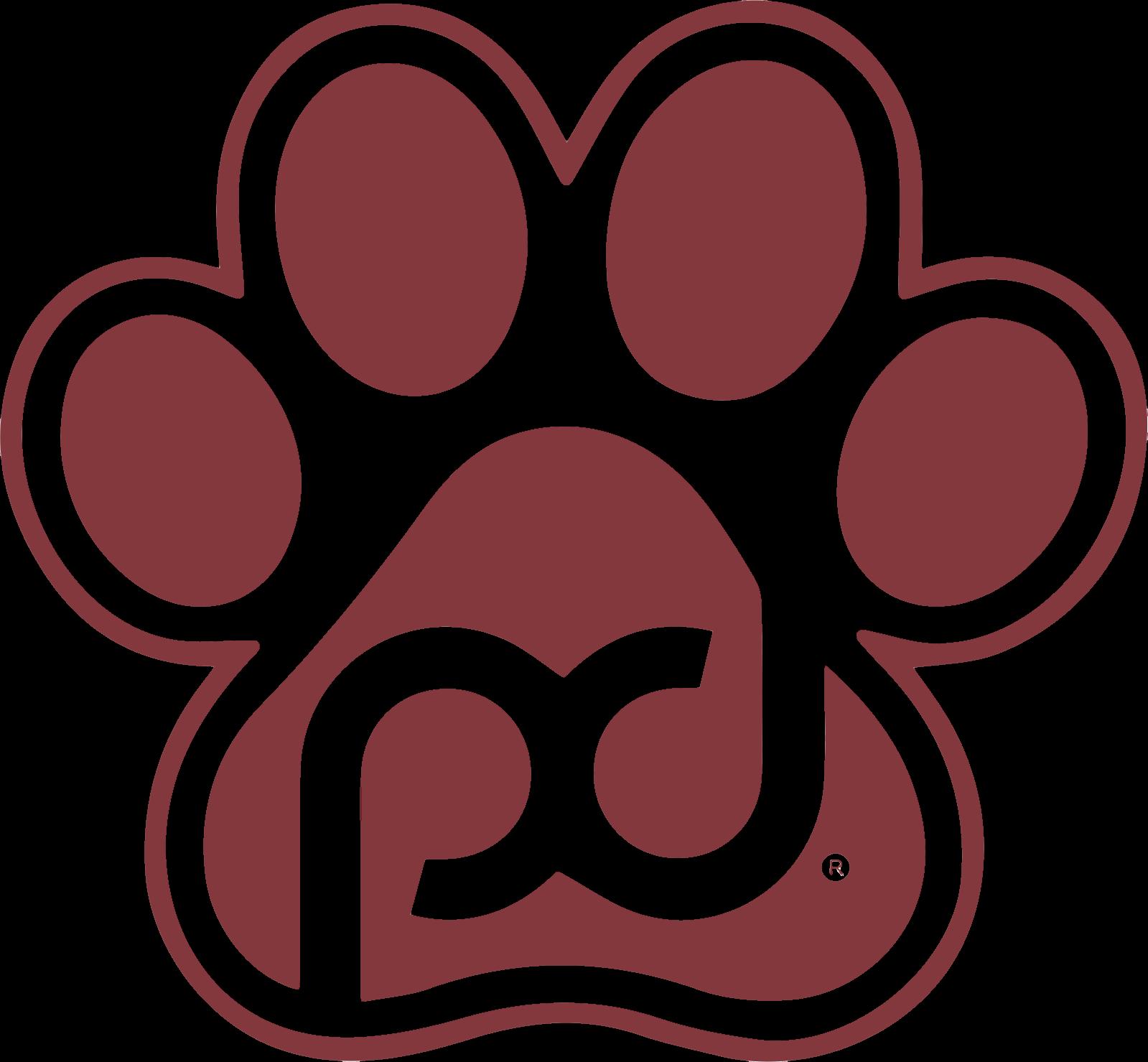 Pub Dog Paw Print Logo